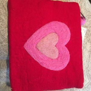 Handbags - Felt little heart pouch/clutch